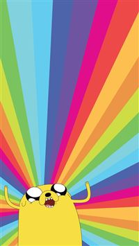 Jake The Dog Adventure Time Rainbow iPhone 7 wallpaper