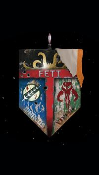 Star Wars Family Crest Fett Dead Or Alive iPhone 6(s)~8(s) wallpaper