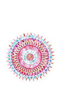 Colorful Watercolor Wheel iPhone 7 wallpaper