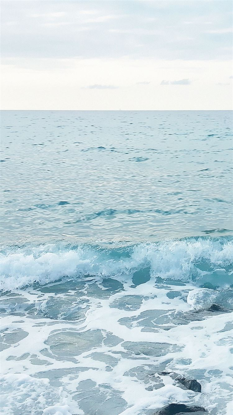 Blue Ocean Waves Sea Foam Iphone 8 Wallpapers Free Download