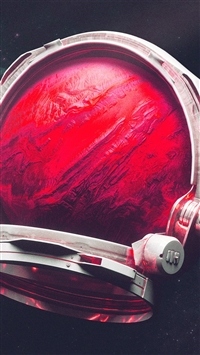 Space Digital Mars Illustration Art Red iPhone 6(s)~8(s) wallpaper