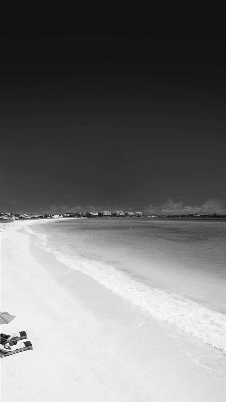 Infrared Beach Seaside Black And White Iphone 8 Wallpapers