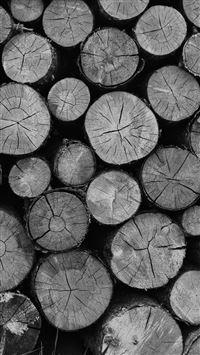 Wood Nature Cut Pattern Dark Bw iPhone 7 wallpaper