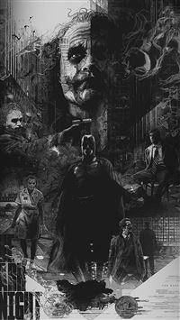 Joker Batman Poster Film Hero Illustration Art iPhone 6(s)~8(s) wallpaper