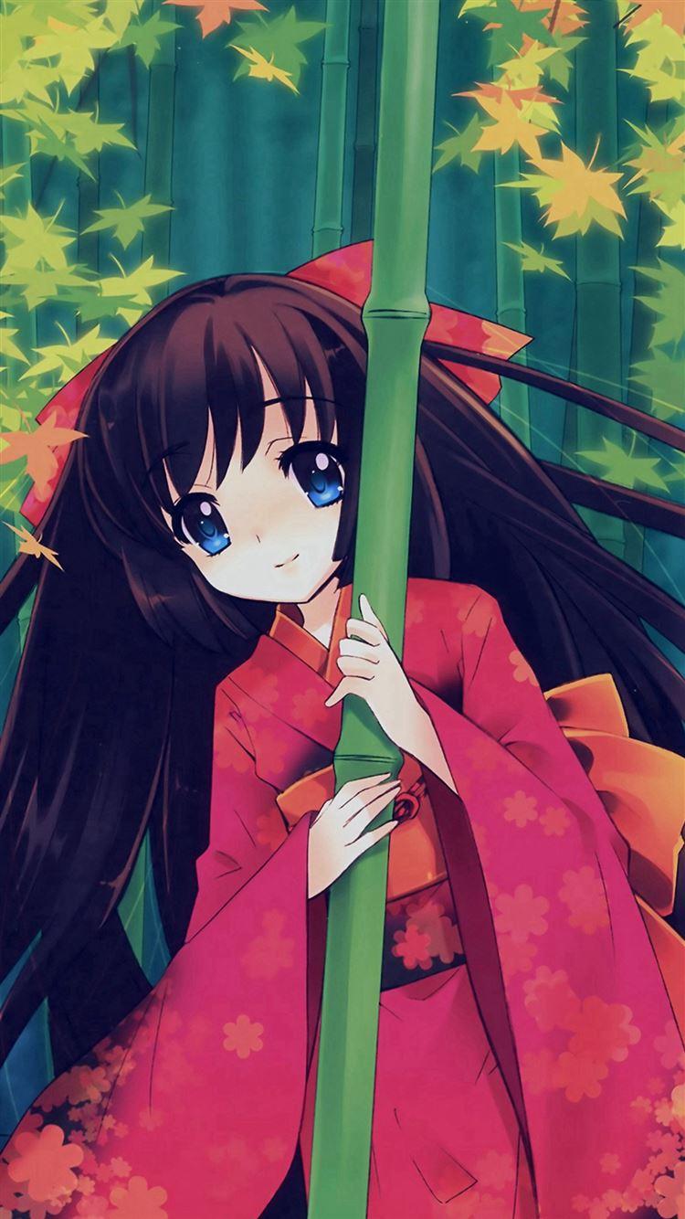 Anime Girl Japan Art Cute Illustraion iphone 8 wallpaper ilikewallpaper com