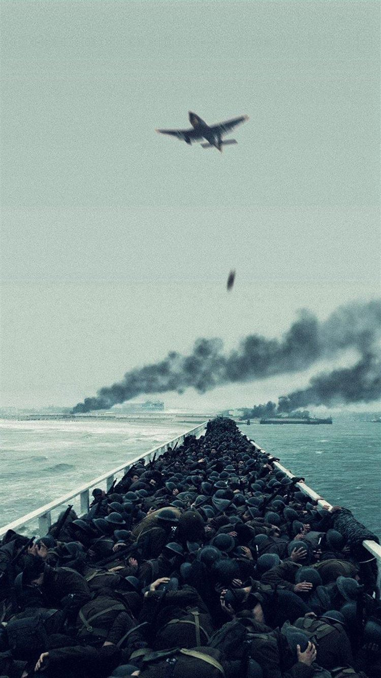 Film War Dunkirk Boat Ship Illustration Art Iphone 8