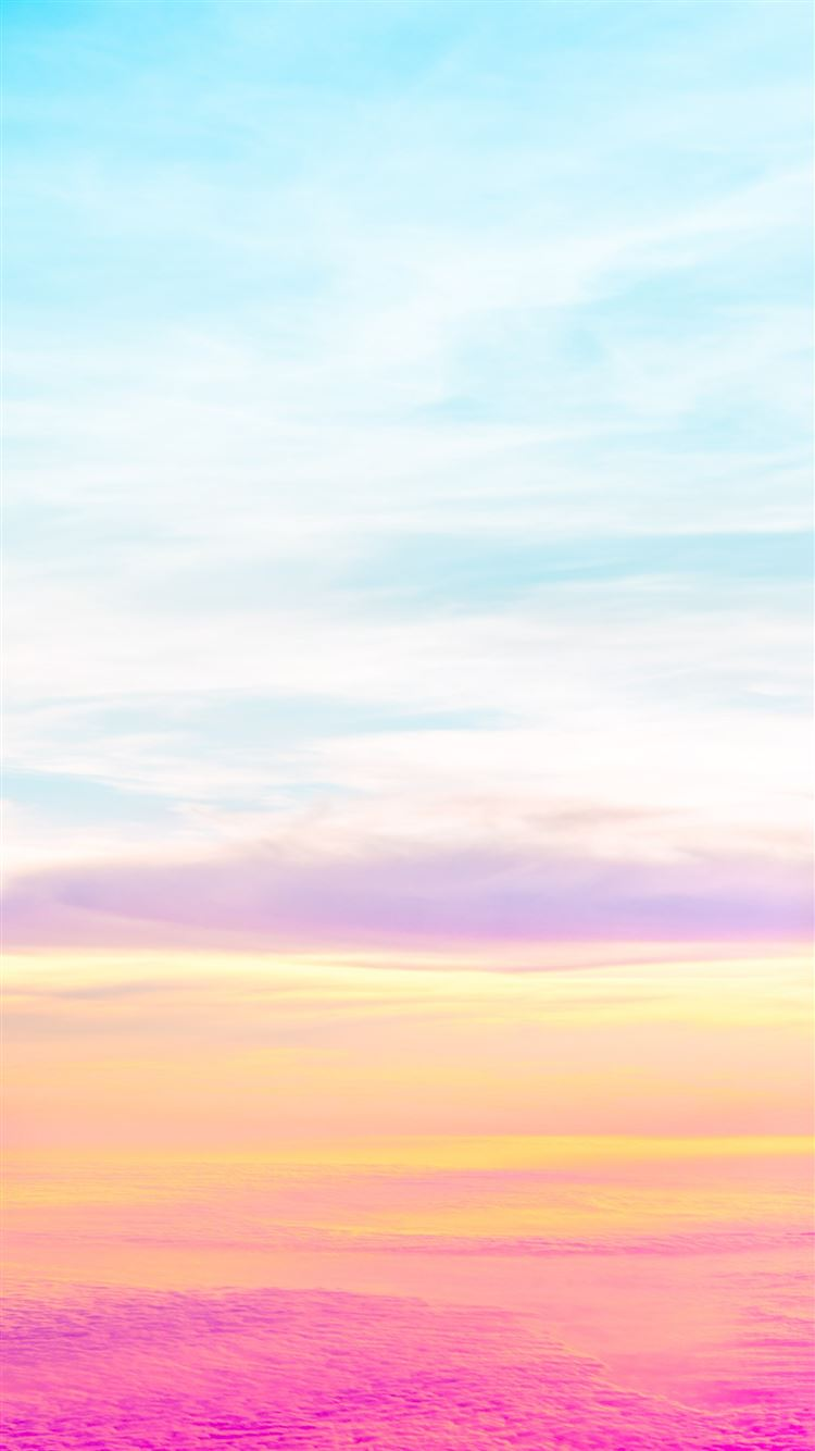Beautiful Pastel Sky iPhone 8 wallpaper