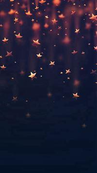 Golden Falling Stars iPhone 7 wallpaper
