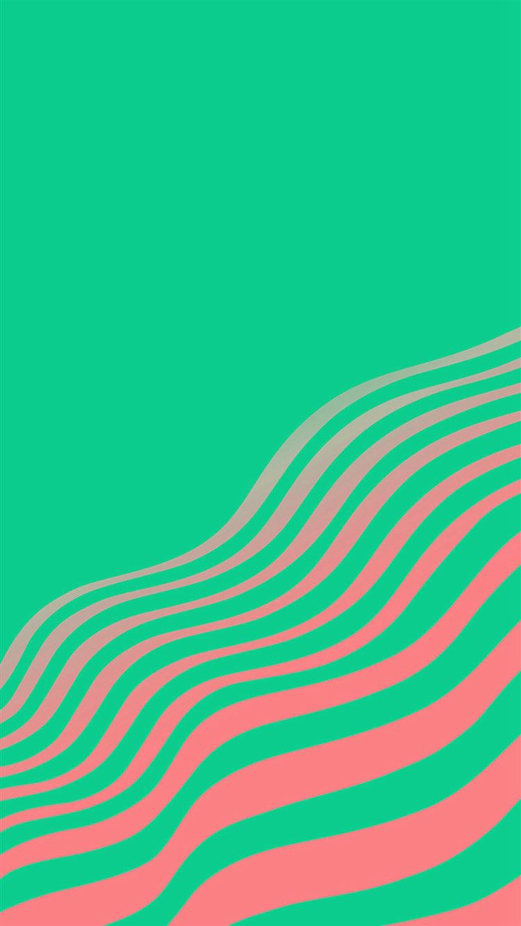 Line Simple Minimal Curve Pattern Green Iphone 8 Wallpapers