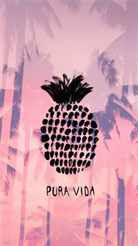 Pura Vida Summer Pineapple iPhone 6(s)~8(s) wallpaper