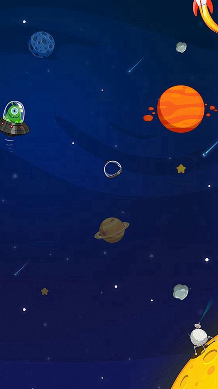 Space Aliens Planets Cartoon iphone 8 wallpaper ilikewallpaper com
