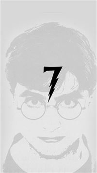 Harry Potter Art Minimal Film Gray iPhone 6(s)~8(s) wallpaper