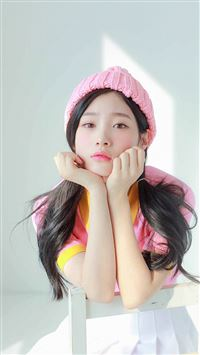 Ioi Chaeyeon Girl Pink White Asian iPhone 6(s)~8(s) wallpaper