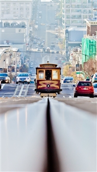 San francisco road cars traffic iPhone 6(s)~8(s) wallpaper