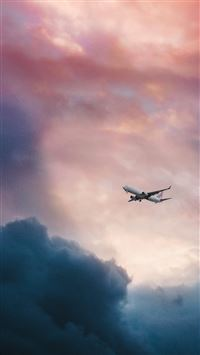 Cloud plane fly sky iPhone 6(s)~8(s) wallpaper
