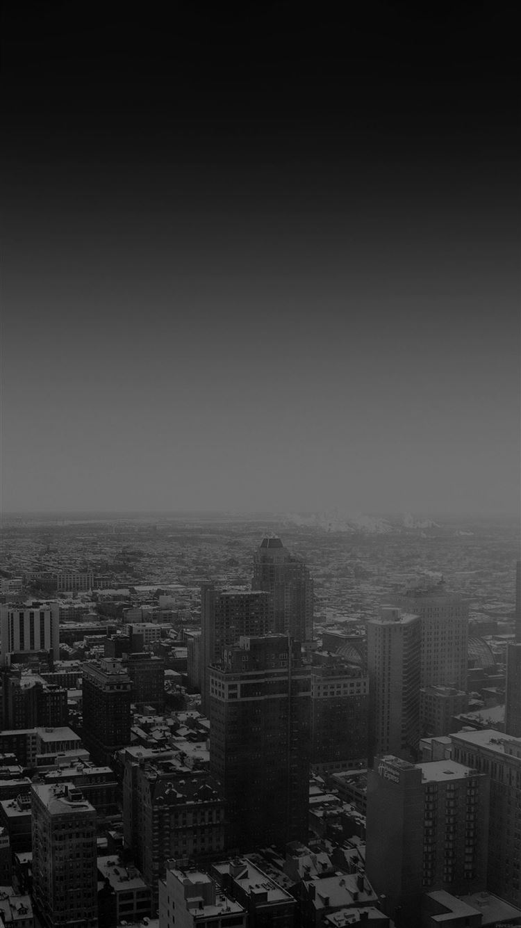 Urban sunrise black winter city skyview iPhone 8 wallpaper
