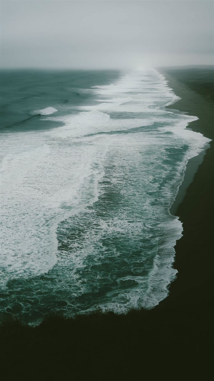 Ocean sea beach surf iPhone 8 wallpaper