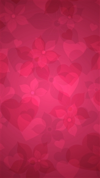 Texture pink heart hearts flowers iPhone 6(s)~8(s) wallpaper