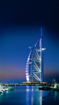 Dubai united arab emirates sea iPhone 6(s)~8(s) wallpaper