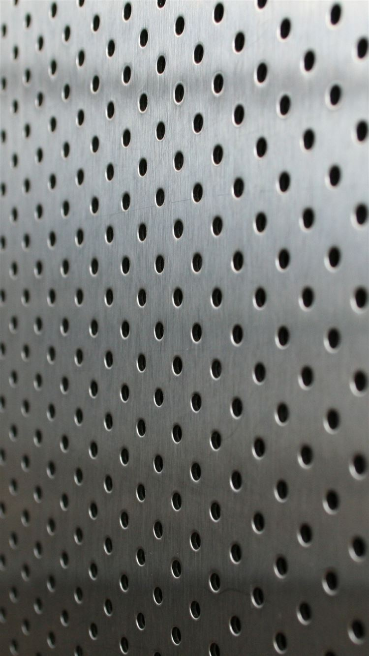 Metal Points Holes Silver Background Iphone 8 Wallpapers