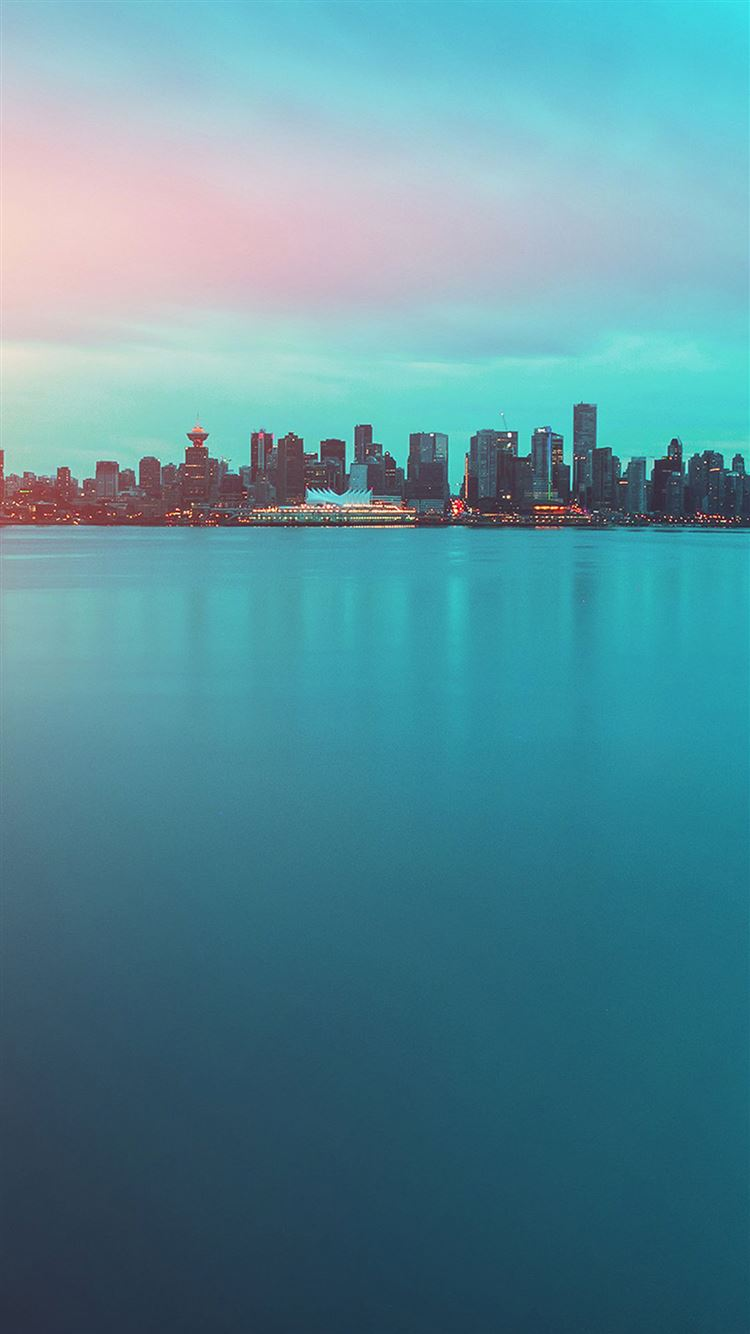 Lake city green flare afternoon iPhone 8 wallpaper