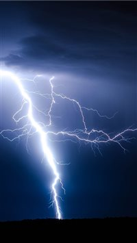 Lightning Ground Storm iPhone 6(s)~8(s) wallpaper