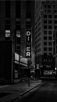 diner sign financial district iPhone 6(s)~8(s) wallpaper