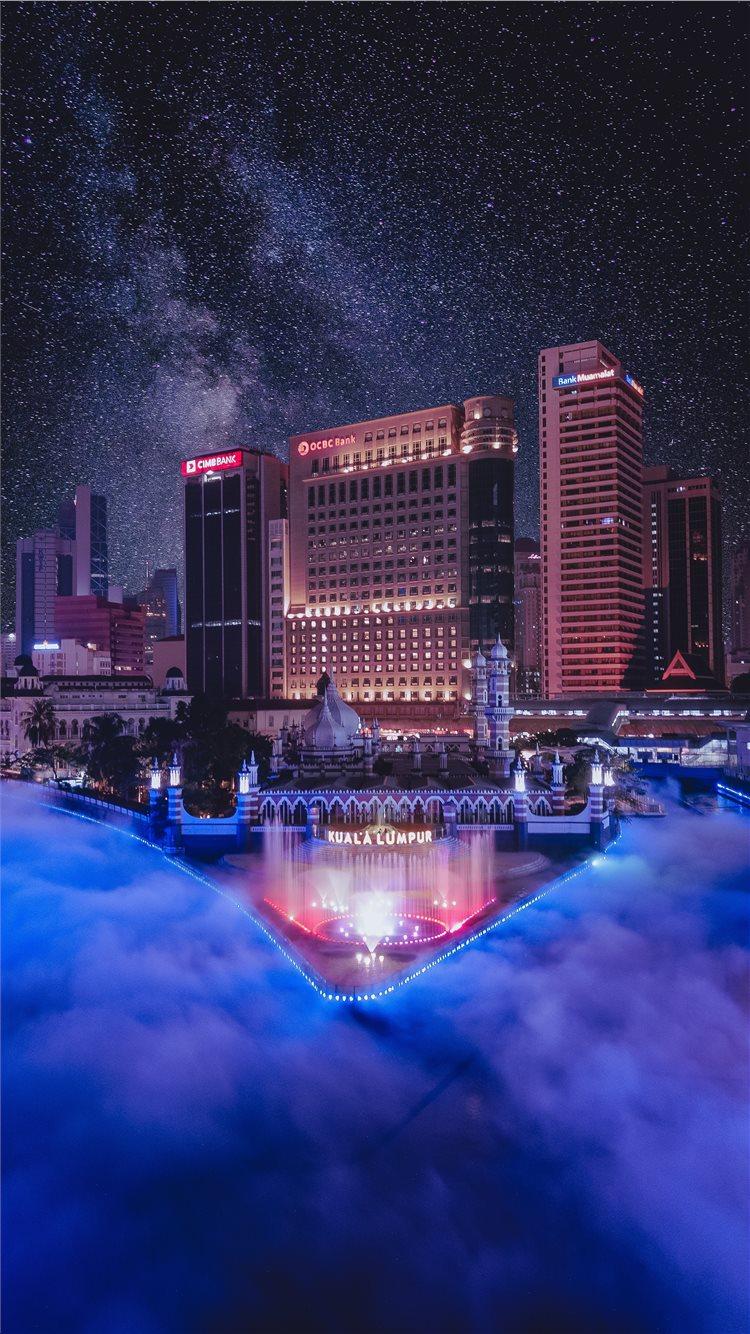 ... The River of Live Kuala Lumpur iPhone 8 wallpaper.