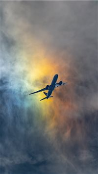 Rainbow Clouds iPhone 6(s)~8(s) wallpaper