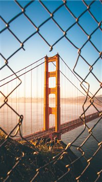 Sunrise at Golden Gate iPhone 6(s)~8(s) wallpaper