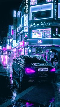 Cyberpunk Seoul iPhone 6(s)~8(s) wallpaper