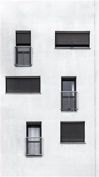 Black and white side of a building iPhone 6(s)~8(s) wallpaper