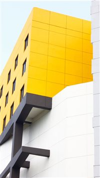 yellow grey building iPhone 6(s)~8(s) wallpaper