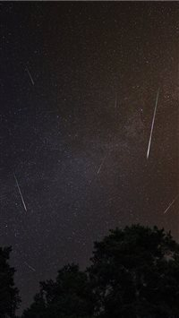 This is Perseid Meteor Shower iPhone 6(s)~8(s) wallpaper