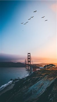 Golden Gate Bridge  United States iPhone 6(s)~8(s) wallpaper