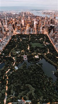 Central Park from above   New York City iPhone 6(s)~8(s) wallpaper