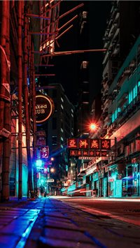 night in Hong Kong iPhone 6(s)~8(s) wallpaper