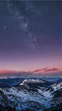 Mountain Milky Way iPhone 6(s)~8(s) wallpaper