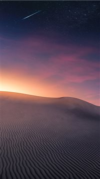 Desert Landscape   Sunset and Comet iPhone 6(s)~8(s) wallpaper