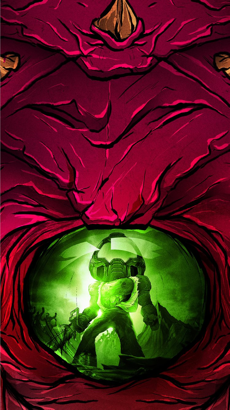 Doom Eternal Slayerclub Starship Doomers 5k Iphone 8 Wallpapers Free Download