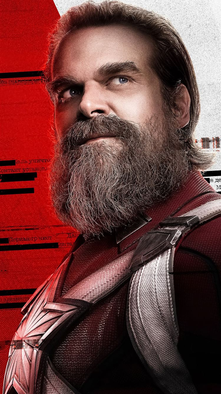 david harbour as red guardian in black widow 2020 iPhone 8 wallpaper