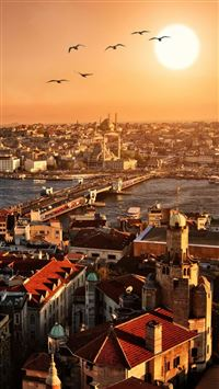 Istanbul City iPhone 5(s/c)~se wallpaper