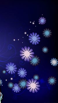 Fashion floral background iPhone 5(s/c)~se wallpaper