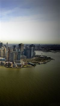 New York aerial view iPhone 5(s/c)~se wallpaper