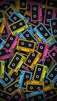 Audio tapes iPhone 5(s/c)~se wallpaper