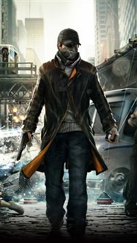 Watch Dogs Video Game iPhone 5(s/c)~se wallpaper