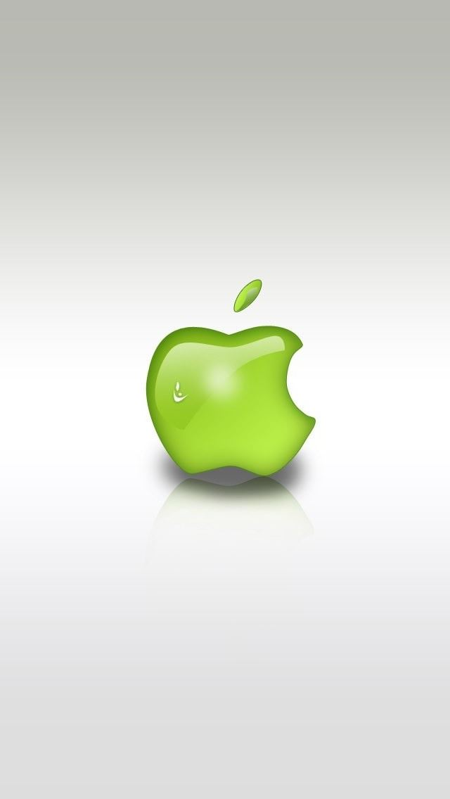 Green Apple Logo Iphone Se Wallpaper Download Iphone Wallpapers