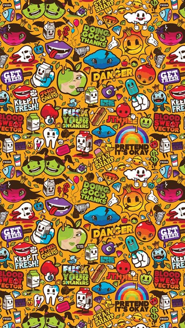 Cute Cartoon Collection Iphone Se Wallpaper Download Iphone
