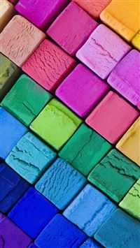 Color Wooden Blocks iPhone 5(s/c)~se wallpaper