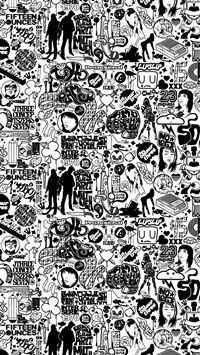 Comics Black And White iPhone 5(s/c)~se wallpaper